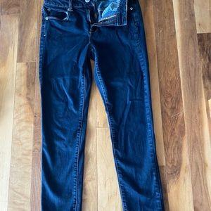 AE high rise skinny  jeans 8 short super stretch